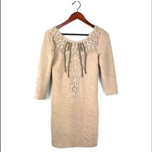 Free people dress bodycon embellished lace texture